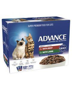 Advance 1+ Adult Cat Multi Pack Gravy - 12 x 85g