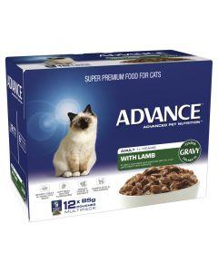 Advance Adult Cat Lamb In Gravy 12 x 85g