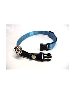 Cat collar nylon adj turquoise