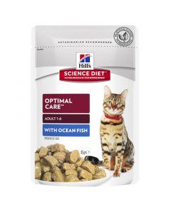 Hill's Science Diet Cat Adult Optimal Care Ocean Fish 12 x 85g