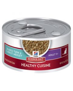 Hill's Science Diet Cat Adult 11+ Healthy Cuisine Tuna 24 x 82g