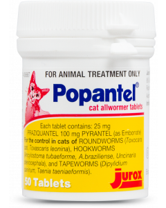 Popantel Tablets for Cats (5kg) - 50 tablets