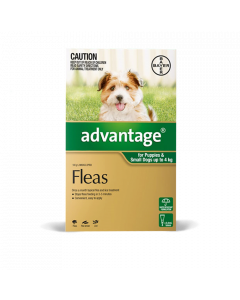 Advantage Puppy & Dog Small Up To 4Kg Green