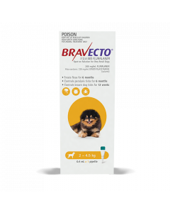 Bravecto Spot On Dog Very Small 2-4.5kg Yellow 1 Pack