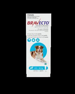 Bravecto Spot On Dog Large 20-40kg Blue 1 Pack