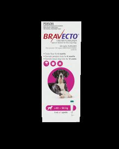 Bravecto Spot On Dog Very Large 40-56kg Pink 1 Pack