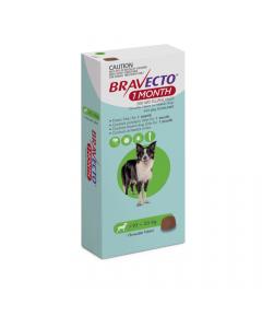 Bravecto 1 Month Medium Dog 10-20kg Green 1 Pack