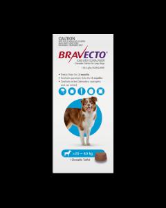 Bravecto Chewables Dog Large 20-40kg Blue