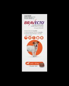 Bravecto Chewables Dog Small 4.5-10kg Orange