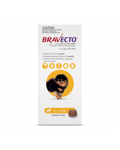 Bravecto Chewables Dog Extra Small 2-4.5kg Yellow