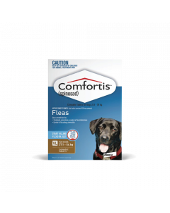 Comfortis Chewable Tablets Dog Very Large 60.1-120lbs Brown