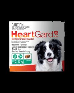 HeartGard Plus Dog Medium 12-22kg Green