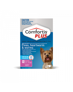 Comfortis Plus Dog Extra Small 2.3-4.5kg Pink