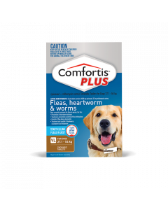 Comfortis Plus Dog Extra Large 27.1-54kg Brown