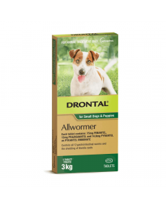 Drontal Allwormer Dog & Puppy Up To 3kg Tablets