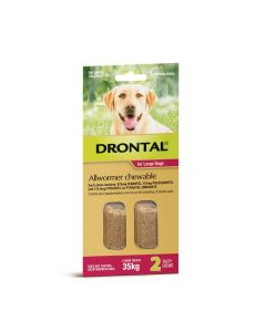 Drontal Allwormer Dog Large 35kg Chews