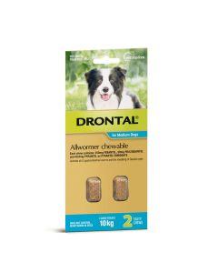 Drontal Allwormer Dog Medium 10kg Chews