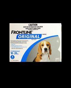 Frontline Original Dog Medium 10-20kg Blue 4 Pack