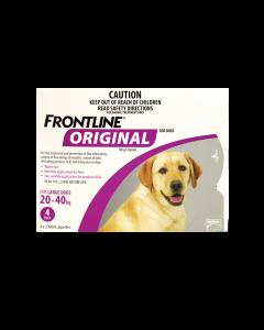 Frontline Original Dog Large 20-40kg Purple 4 Pipettes