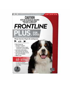 Frontline Plus Dog Extra Large 40-60kg Red