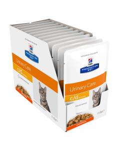 Hills Prescription Diet Cat c/d Urinary Care Multicare Chicken 12x85g Pouch