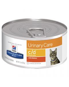 Hill's Prescription Diet Cat c/d Urinary Care Multicare With Chicken 24 x 156g