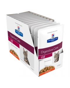 Hills Prescription Diet Cat i/d Digestive Care Chicken 12x84g Pouch