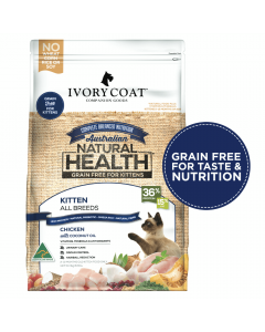 Ivory Coat Chicken with Coconut Oil Grain Free Dry Kitten Food 3kg Front