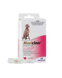 Moxiclear Dogs Over 25kg Pink