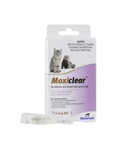 Moxiclear For Kittens and Small Cats up to 4kg