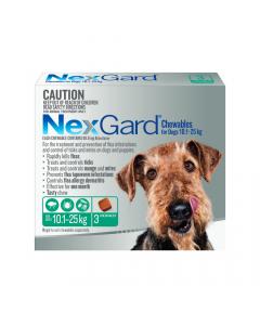 NexGard Chewables Dog Medium 24.1-60lbs Green