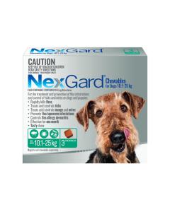 NexGard Chewables Dog Medium 10.1 - 25kg Green