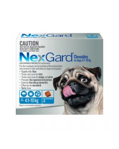 NexGard Chewables Dog Small 4.1-10kg Blue