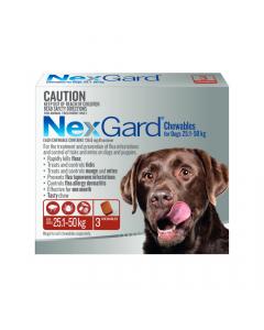 NexGard Chewables Dog Large 60.1-121lbs Red