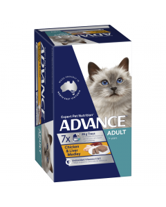 Advance Adult Cat Chicken and Liver Medley - 7 x 85g cans