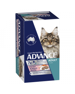 Advance Adult Cat Chicken and Salmon Medley 7 x 85g