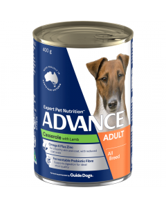 Advance Adult Dog All Breed Casserole With Lamb 12 x 400g