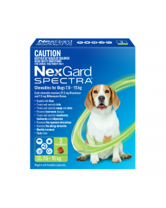 NexGard Spectra Dog Medium 7.6-15kg Green
