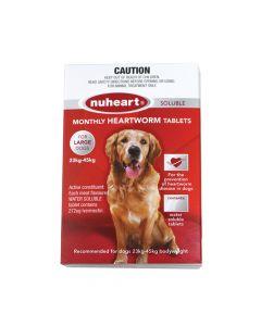 Nuheart Heartworm Tablet Dog Large 23-45kg Red
