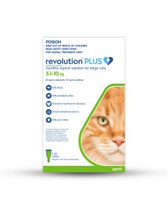 Revolution Plus Large Cats 5.1-10kg Green