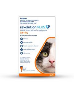 Revolution Plus Medium Cats 2.6-5kg Orange