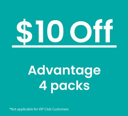 $10 off Advantage 4 Pack