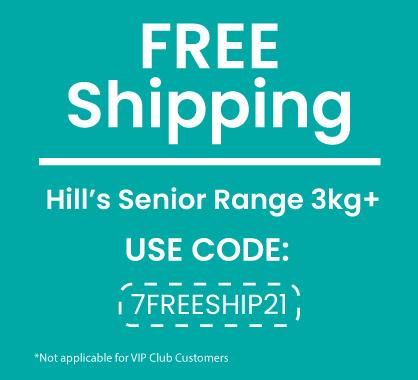 FREE SHIPPING Hill's Senior Range