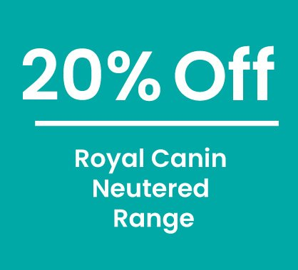 20% off Royal Canin Neutered Diets