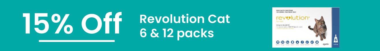 15% off Revolution Cat 6 & 12 Packs