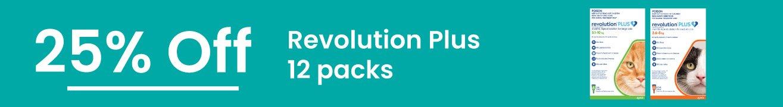 25% off Revolutions PLUS 12 Packs