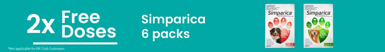 2 Free Doses Simparica 6 Packs