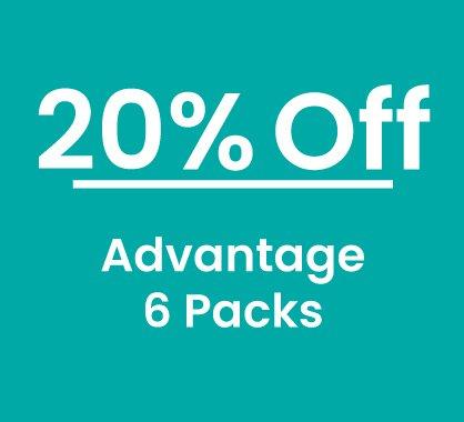 20% off Advantage 6 Packs