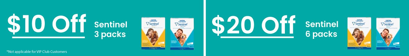 $10 off Sentinel 3 Pack | $20 off 6 Pack