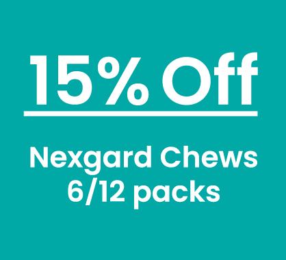 Nexgard 15% Off 6 and 12 packs